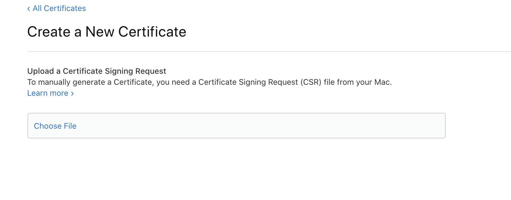 Select Certificate Signing Request